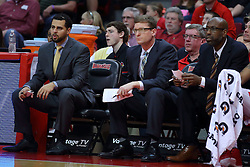 19 February 2017:  Dean Oliver, Luke Yaklich and Brian Reese during a College MVC (Missouri Valley conference) mens basketball game between the Loyola Ramblers and Illinois State Redbirds in  Redbird Arena, Normal IL