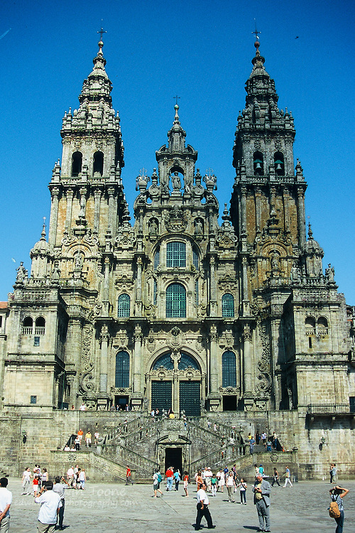A World Heritage Site, the cathedral of Santiago de Compostela, Spain is the reputed burial-place of Saint James the Great, one of the apostles of Jesus Christ.