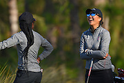 Mariah Stackhouse and Lauren Kim during the final round of LPGA Q-School Stage 3 on the Hills Course at LPGA International in Daytona Beach, Florida on Dec. 4, 2016.<br /> <br /> <br /> ©2016 Scott A. Miller