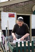 People re-enacting life in Urk village, Zuiderzee museum, Enkhuizen, Netherland
