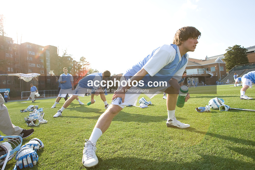 22 March 2008: North Carolina Tar Heels attackman Billy Bitter (4) before playing the Maryland Terrapins at Fetzer Field in Chapel Hill, NC.