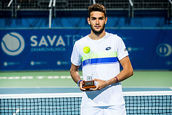 Runner up Matteo Berrettini (ITA) during Trophy ceremony after the Final match of ATP Challenger Zavarovalnica Sava Slovenia Open 2017, on August 12, 2017 in Sports centre, Portoroz/Portorose, Slovenia. Photo by Vid Ponikvar / Sportida