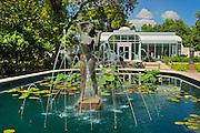 Leo Mol bronze sculpture  / fountain in Assiniboine Park by international artist<br /> Winnipeg<br /> Manitoba<br /> Canada