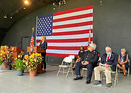 East Meadow, New York, U.S. September 10, 2020. Nassau County commemorates 19th anniversary of September 11 terrorist attacks with Remembrance and Name Recitation Ceremony at Harry Chapin Lakeside Theater, in Eisenhower Park, with names read of 348 county residents killed that day. Nassau County Executive LAURA CURRAN made introductory remarks. Due to COVID-19 concerns, participants wore face coverings, and residents were urged to virtually attend ceremony live online.