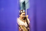The 2014 Miss Fairbanks, Chanda Simon of Fairbanks, at the WEIO 2014 games in Fairbanks on July 16, 2014.