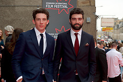 Left to right, Josh O'Connor and  Alec Secareanu on the red carpet at the Edinburgh International Film Festival Opening Night Gala of the UK  Premier, God's Own Country directed by Francis Lee at Edinburgh's Festival Theatre. Wednesday 21st June 2017(c) Brian Anderson | Edinburgh Elite media