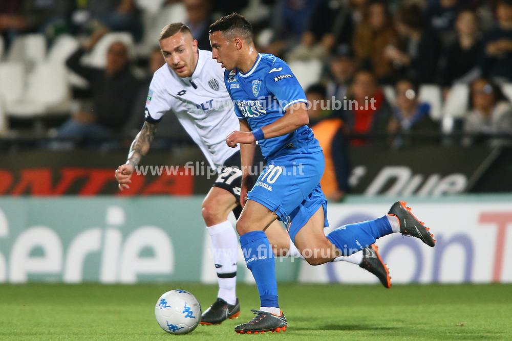 "Foto Filippo Rubin<br /> 17/04/2018 Cesena (Italia)<br /> Sport Calcio<br /> Cesena - Empoli - Campionato di calcio Serie B ConTe.it 2017/2018 - Stadio ""Dino Manuzzi""<br /> Nella foto: ISMA…L BENNACER (EMPOLI)<br /> <br /> Photo by Filippo Rubin<br /> April 17, 2018 Cesena (Italy)<br /> Sport Soccer<br /> Cesena vs Empoli - Italian Football Championship League B 2017/2018 - ""Dino Manuzzi"" Stadium <br /> In the pic: ISMA…L BENNACER (EMPOLI)"