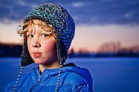 Six grade student at Chugach Elementary School, Sam Joling, enjoys skating at Westchester Lagoon, Anchorage