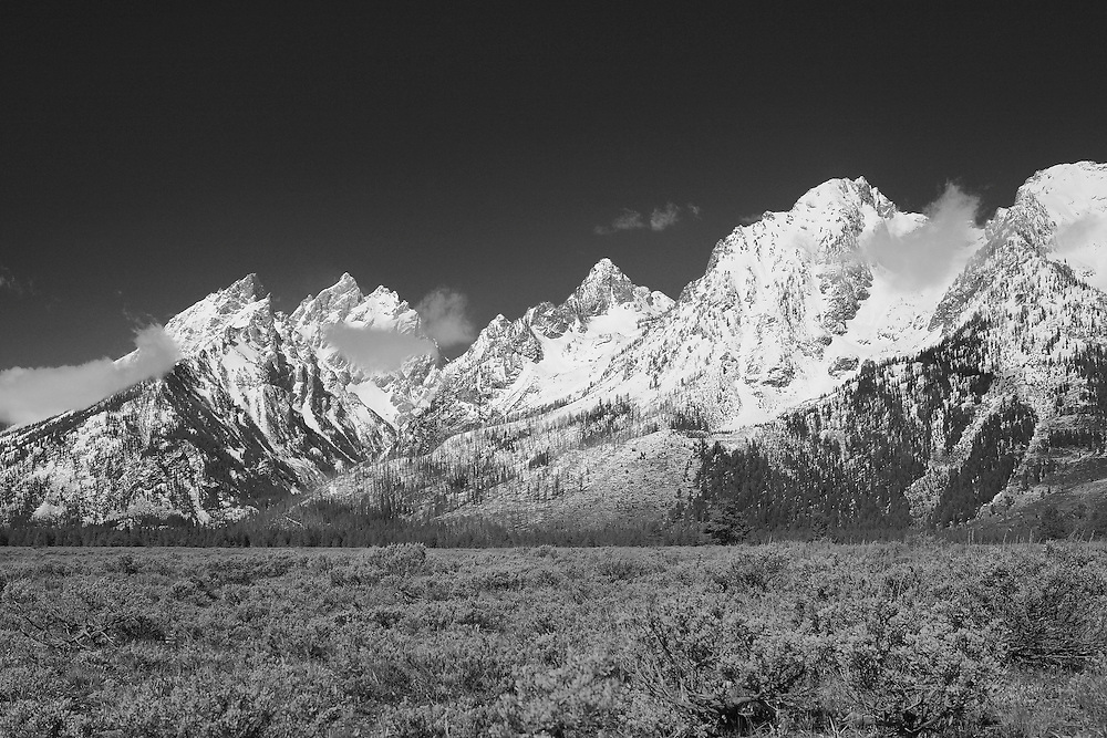 Grand Tetons, WY - Infrared Black & White