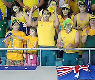 Australia Fans at the water polo, Australia v Montenegro..Yingdong Natatorium of National Olympic Sports Center 18-8-08   ..Photo: Grant Treeby/WSP