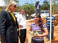 COLOMBIA - Queen maxima vistits Colombia in her capacity special UN Envoy Inclusiv Finance. Visitit Lebrija a citrusfarm of the owner Maria Lucinda Sanabria Daza.  COPYRIGHT ROBIN UTRECHT
