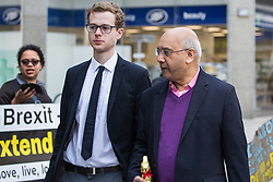 London, UK. 30th April 2019. Keith Vaz MP arrives for a Labour Party NEC meeting to confirm plans for Labour's EU election manifesto, including its stance with regard to a second referendum.