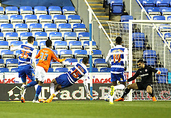 Reading's Adam Federici saves from Birmingham City's Demarai Gray - Photo mandatory by-line: Robbie Stephenson/JMP - Mobile: 07966 386802 - 22/04/2015 - SPORT - Football - Reading - Madejski Stadium - Reading v Birmingham City - Sky Bet Championship