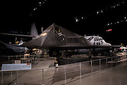 "A F-117A ""Nighthawk"" sits in an exhibit titled ""The Cold War"" at the National Museum of the Air Force on July 2, 2012 in Dayton, Ohio. (David Welker/www.Turfimages.com)."