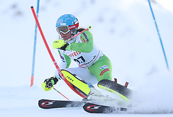 28.01.2018, Lenzerheide, SUI, FIS Weltcup Ski Alpin, Lenzerheide, Slalom, Damen, 1. Lauf, im Bild Marusa Ferk (SLO) // Marusa Ferk of Slovenia in action during her 1st run of ladie's Slalom of FIS ski alpine world cup in Lenzerheide, Austria on 2018/01/28. EXPA Pictures © 2018, PhotoCredit: EXPA/ Sammy Minkoff<br /> <br /> *****ATTENTION - OUT of GER*****