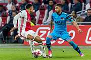AMSTERDAM - 05-04-2017, Ajax - AZ, Stadion Arena, Ajax speler Kenny Tete, AZ speler Alireza Jahanbakhsh