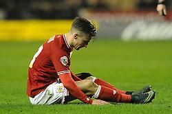 Joe Bryan of Bristol City cuts a dejected figure - Mandatory byline: Dougie Allward/JMP - 08/03/2016 - FOOTBALL - Molineux Stadium - Wolverhampton, England - Wolves v Bristol City - Sky Bet Championship