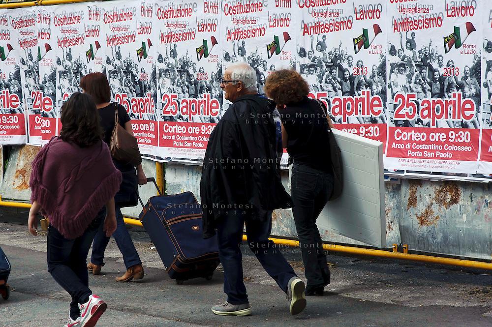 Roma 25 Aprile 2012.Corteo per anniversario della liberazione dal Nazifascismo..