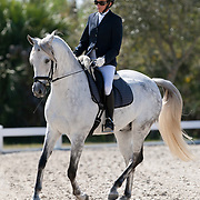Tammy Feldman and Sensillo Ganador during the 2013 Wellington Classic Dressage Sunshine Challenge at the Jim Brandon Equestrian Center in West Palm Beach, Florida.