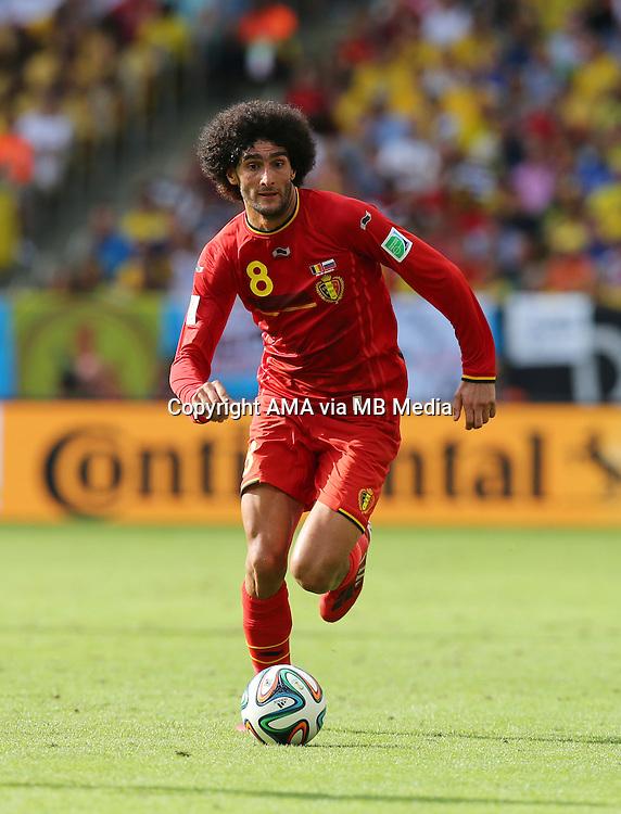 Marouane Fellaini of Belgium