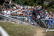 Dakotah Norton (USA) on his downhill run at the 2018 UCI MTB World Championships - Lenzerheide, Switzerland