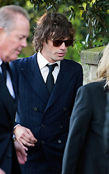 LNP HIGHLIGHTS OF THE WEEK 25/04/14 © London News Pictures. 21/04/2014 . Davington, UK. Razorlight frontman Johnny Borrell  arriving before the service.  The Funeral of Peaches Geldof. at St Mary Magdalene and St Lawrence Church in the village of Davington, Kent. Peaches Geldof, daughter of Irish singer-songwriter and political activist Bob Geldof, died on Apr. 7 at her home in southeastern England. Her death still remains unexplained.  Photo credit : Ben Cawthra/LNP