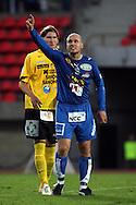 10.09.2006, Ratina, Tampere, Finland..Veikkausliiga 2006 - Finnish League 2006.Tampere United - Kuopion Palloseura.Ville Lehtinen (TamU) v Matti Hurme (KuPS).©Juha Tamminen.....ARK:k
