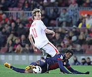 Barcelona beat Sevilla 2-1, Feb 23.