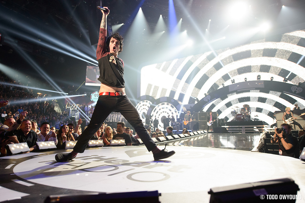 Green Day performing at the iHeartRadio Music Festival in Las Vegas, Nevada on September 21, 2012.