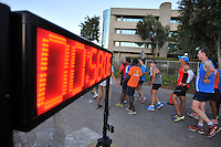 BELLVILLE, SOUTH AFRICA - Wednesday 3 December 2014, Race Clock during the Metropolitan 10km road race outside the Parc Du Cap head office in Bellville.<br /> Photo by IMAGE SA / Roger Sedres