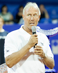 Gerry Armstrong, ATP Superviso during flower ceremony after final of singles at 25th Vegeta Croatia Open Umag, on July 27, 2014, in Stella Maris, Umag, Croatia. Photo by Urban Urbanc / Sportida