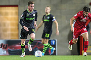 Forest Green Rovers Carl Winchester(7) on the ball during the EFL Sky Bet League 2 match between Morecambe and Forest Green Rovers at the Globe Arena, Morecambe, England on 22 October 2019.