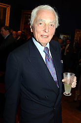 The EARL OF AIRLIE at a reception hosted by Brian Ivory Chairman of the Trustees of The National Galleries of Scotland to commemorate Sir Timothy Clifford's 21 years of Director of the National Gallery of Scotland and his forthcoming retirement in January 2006, held at Christie's, King Street, London W1 on 6th December 2005.<br />