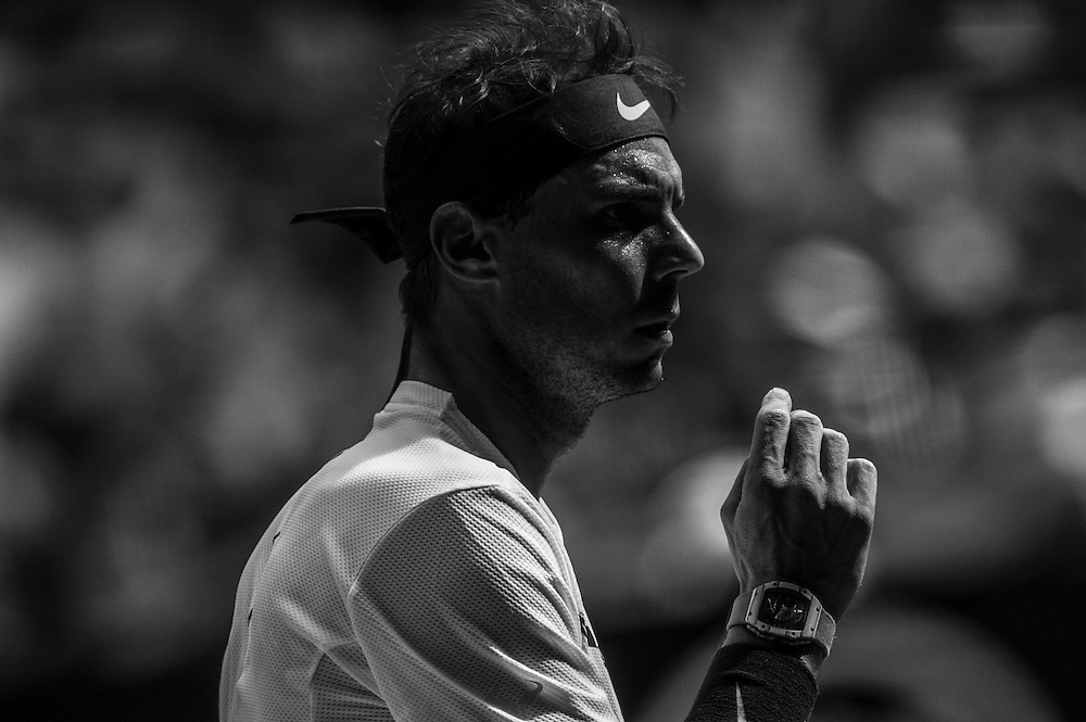 Rafael Nadal of Spain on day two of the 2017 Australian Open at Melbourne Park on January 17, 2017 in Melbourne, Australia.<br /> (Ben Solomon/Tennis Australia)