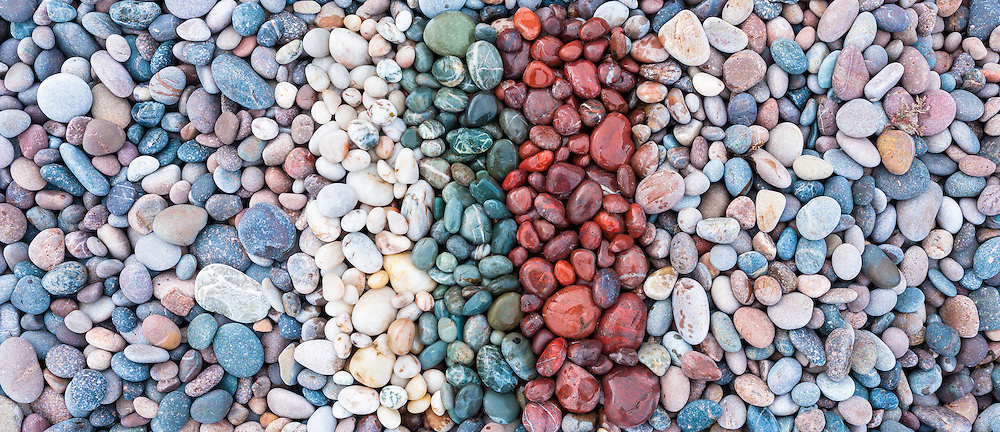 Beach pebbles, Auchmithie, Angus arrange by Niall and Iona