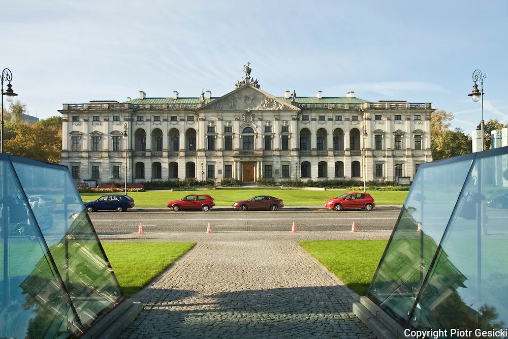 Krasinskich Palace on Krasinski Square Warsaw Poland photo Piotr Gesicki
