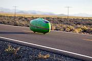De Glow Worm op de tweede westrijddag van de WHPSC. In Battle Mountain (Nevada) wordt ieder jaar de World Human Powered Speed Challenge gehouden. Tijdens deze wedstrijd wordt geprobeerd zo hard mogelijk te fietsen op pure menskracht. Ze halen snelheden tot 133 km/h. De deelnemers bestaan zowel uit teams van universiteiten als uit hobbyisten. Met de gestroomlijnde fietsen willen ze laten zien wat mogelijk is met menskracht. De speciale ligfietsen kunnen gezien worden als de Formule 1 van het fietsen. De kennis die wordt opgedaan wordt ook gebruikt om duurzaam vervoer verder te ontwikkelen.<br /> <br /> The Glow Worm at the second day at the WHPSC. In Battle Mountain (Nevada) each year the World Human Powered Speed Challenge is held. During this race they try to ride on pure manpower as hard as possible. Speeds up to 133 km/h are reached. The participants consist of both teams from universities and from hobbyists. With the sleek bikes they want to show what is possible with human power. The special recumbent bicycles can be seen as the Formula 1 of the bicycle. The knowledge gained is also used to develop sustainable transport.