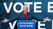 "Former President Bill Clinton appears for the ""Vote Early, Vote Now"" rally to stump for Nevada Democratic candidates at the Las Vegas Springs Preserve on Thursday, October 23, 2014. L.E. Baskow"
