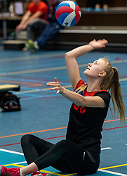 20-04-2019 NED: Dutch Championship Youth Sitting Volleyball, Veenendaal<br /> The future sitting volleyball toppers in action at the National Youth Volleyball Championship in Veenendaal / Spaarnestad