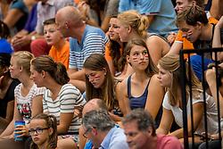 28-08-2016 NED: Nederland - Slowakije, Nieuwegein<br /> Het Nederlands team heeft de oefencampagne tegen Slowakije met een derde overwinning op rij afgesloten. In een uitverkocht Sportcomplex Merwestein won Nederland met 3-0 van Slowakije / support, publiek, oranje