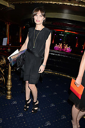 SHEHERAZADE GOLDSMITH at the Hoping Foundation's 'Rock On' Benefit Evening for Palestinian refuge children held at the Cafe de Paris, London on 20th June 2013.