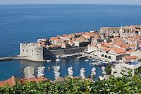 Coastal town of Dubrovnik Dalmatia