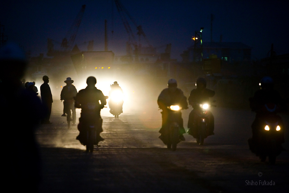 Workers commute to the Haiphong Thermal Power Plant construction site in Trung Son, Vietnam, Nov. 21, 2009. Dongfang Electric, a large Chinese contractor, and Marubeni, a Japanese company, won the $500-million contract in 2005. China, famous for its export of cheap goods, is increasingly known around the world for shipping out cheap labor.