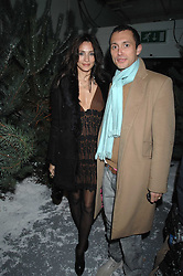VISCOUNT MACMILLAN and ATRID MUNOZ at a party to present the Fall/Winter Collection 2007/2008 of Moncler the French mountaineering brand held at 10 Mercer Street, London WC2 on 13th February 2007.<br />