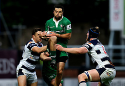 James Marshall of London Irish catches the ball - Mandatory by-line: Robbie Stephenson/JMP - 17/05/2017 - RUGBY - Headingley Carnegie Stadium - Leeds, England - Yorkshire Carnegie v London Irish - Greene King IPA Championship Final 1st Leg