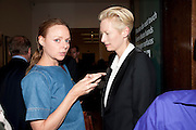 STELLA MCCARTNEY; TILDA SWINTON, A Living man declared Dead and Other Chapters. Taryn Simon. Tate Modern, London. 24 May 2011. <br /> <br />  , -DO NOT ARCHIVE-© Copyright Photograph by Dafydd Jones. 248 Clapham Rd. London SW9 0PZ. Tel 0207 820 0771. www.dafjones.com.