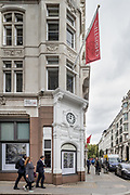 London, England, UK, October 2 2018 - Outside London headquarters of the auction house Christie's on King Street.