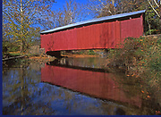 Red reflection from Wagoner's Covered Bridge, Perry Co., PA