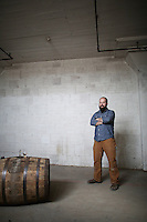 1-7-13---- Balcones Distillery owner Chip Tate in the Balcones Distillery warehouse in Waco, Texas.