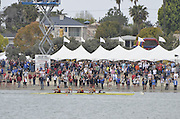 San Diego, California. USA,   2013 San Diego Crew Classic, Mission Bay.  General View, GV, crew passing the Spectators' area, on the Beach. 10:27:08   Sunday  07/04/2013  [Mandatory Credit. Karon Phillips/Intersport Images]..
